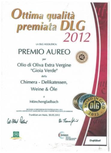 "Premio ""DLG Gold Awards 2012"""