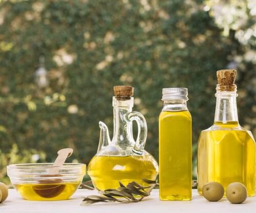 vibrant-olive-oil-bottles-outdoors